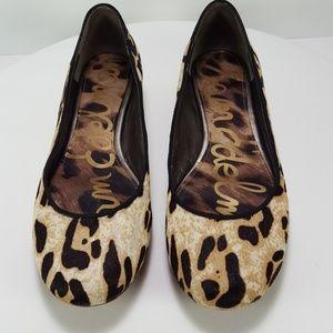 Sam Edelman animal print leather flats sz 6.5